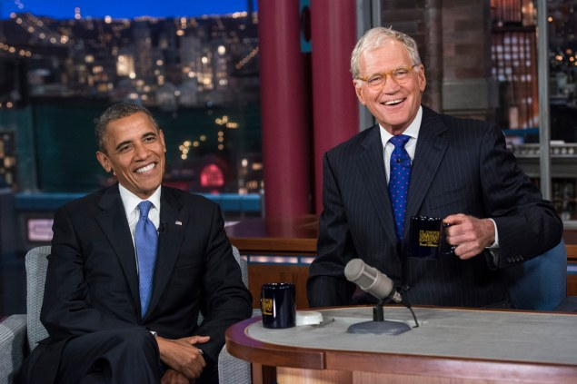 President Barack Obama appearing on ''Late Show with David (Photo: BRENDAN SMIALOWSKI/AFP/GettyImages)