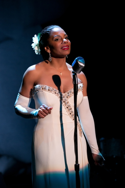 Audra McDonald as Billie Holiday in Lady Day at Emerson's Bar  and Grill.