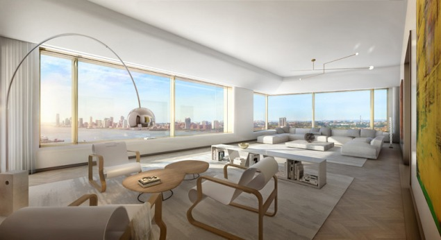 A non-penthouse living room is still quite expansive.