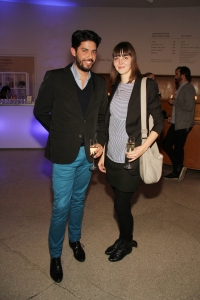 Janka and SculptureCenter's development director, Kim Schnaubert. (Courtesy PMC)