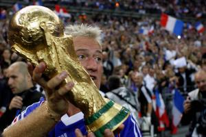 French Didier Deschamps, holding the wor