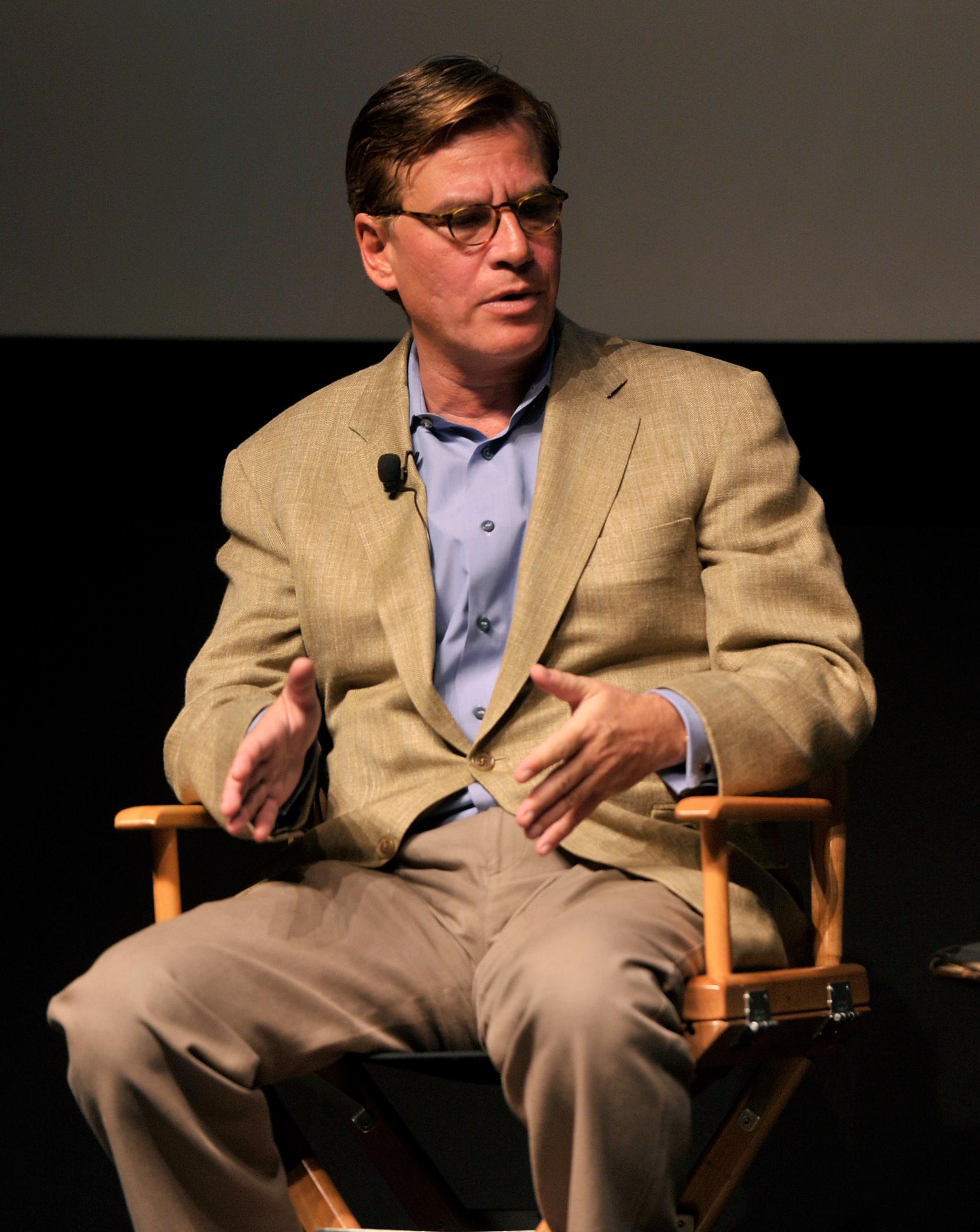 Mr. Sorkin onstage last night. (Photo: Getty)