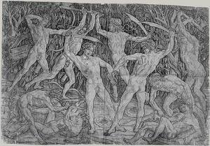 """Antonio Pollaiuolo, """"Battle of Naked Men,"""" 1465. (Courtesy Metropolitan Museum of Art)"""