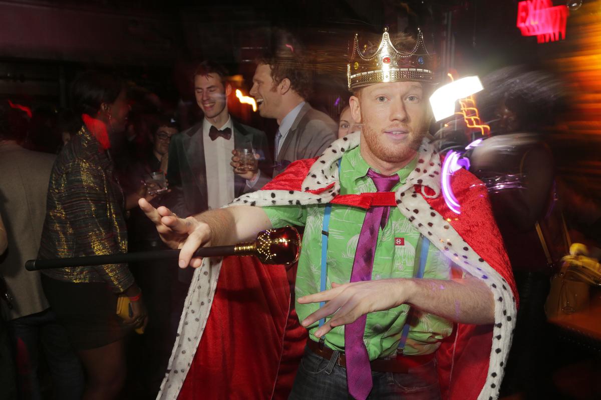 Last year's king, Ben Hindman, at the ball. (Photo via Insider Images)