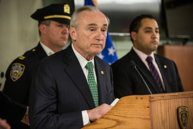 NYPD Commissioner Bill Bratton. (Photo: Andrew Burton/Getty)
