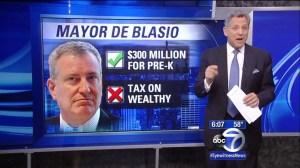 Bill de Blasio on ABC7 last night.