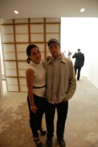 Carol Cohen and UNTITLED artist Phil Wagner. Photo: ArtObserved