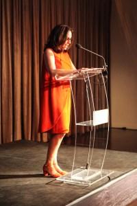 Deborah Kass at the NYFA Hall of Fame Benefit, Photo courtesy NYFA/BFA