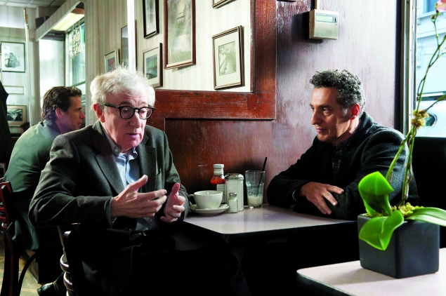 Woody Allen, left, and John Turturro in Fading Gigolo