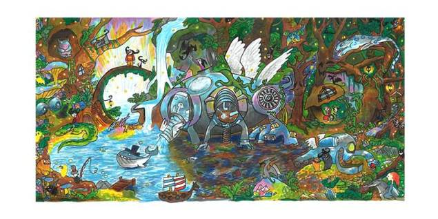 Audrey Zhang's doodle, which is more creative than whatever you drew in middle school. (Audrey Zhang/Google)