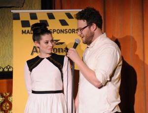 Seth Rogen and Lauren Miller. (Courtesy Getty Images)