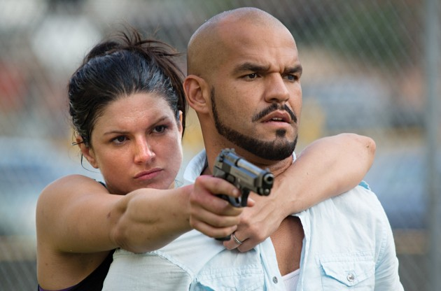 Gina Carano and Amaury Nolasco in In the Blood.