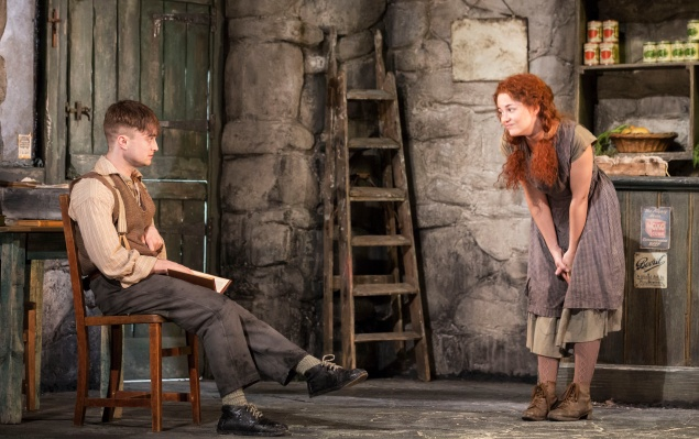 Daniel Radcliffe and Sarah Green in The Cripple of Inishmaan.