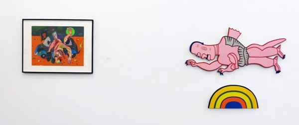Works by Cruz Azaceta and Wirsum. (Courtesy Zürcher Studio)