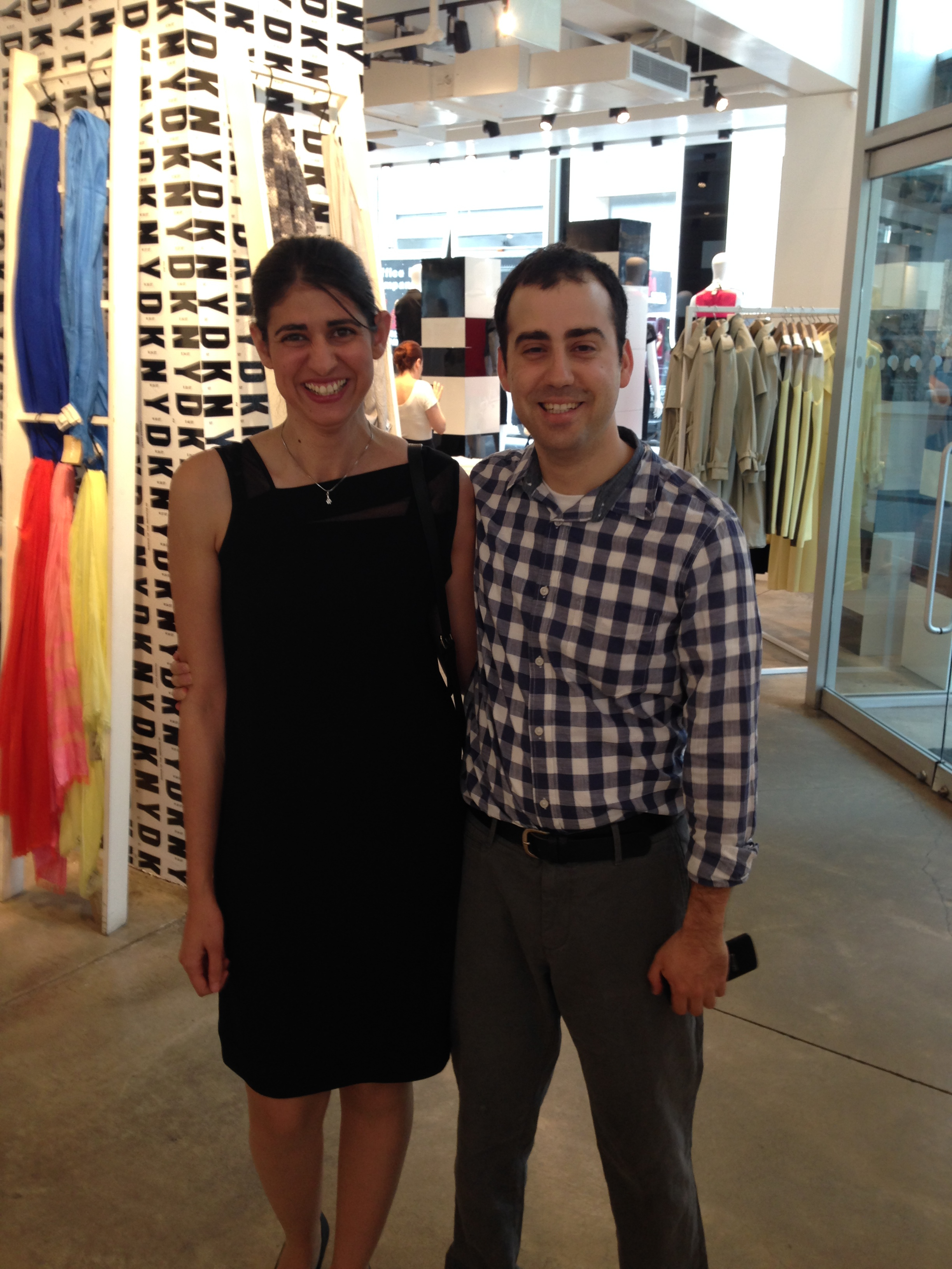 Awear's cofounders, CEO Liron Slinomsky and CTO Orin. (Photo via Ms. Slinomsky)