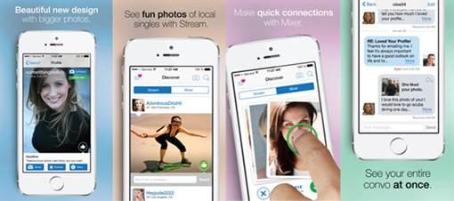 Match.com's new app. (Photo via Match.com)