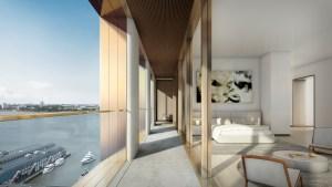 A penthouse loggia. Yes, the penthouses have loggias.