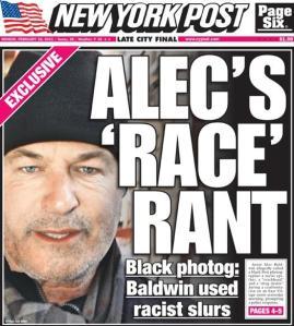 New York Post Alec Baldwin cover