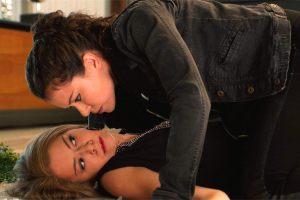 Tatiana Maslany, left, and Tatiana Maslany. (BBC)