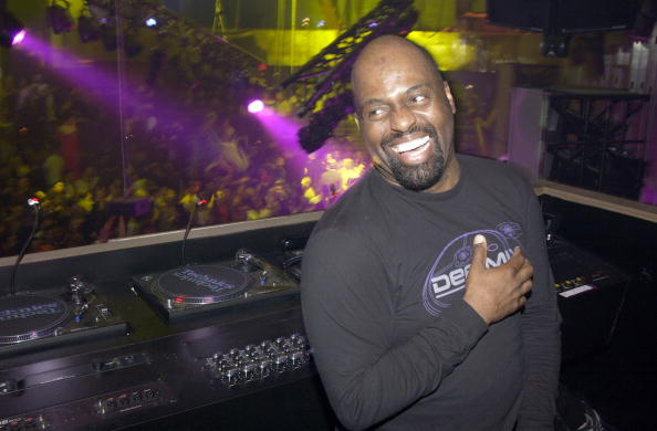 Frankie Knuckles in the DJ booth at crobar during the opening night party in 2003. (Photo by J. Countess/WireImage)