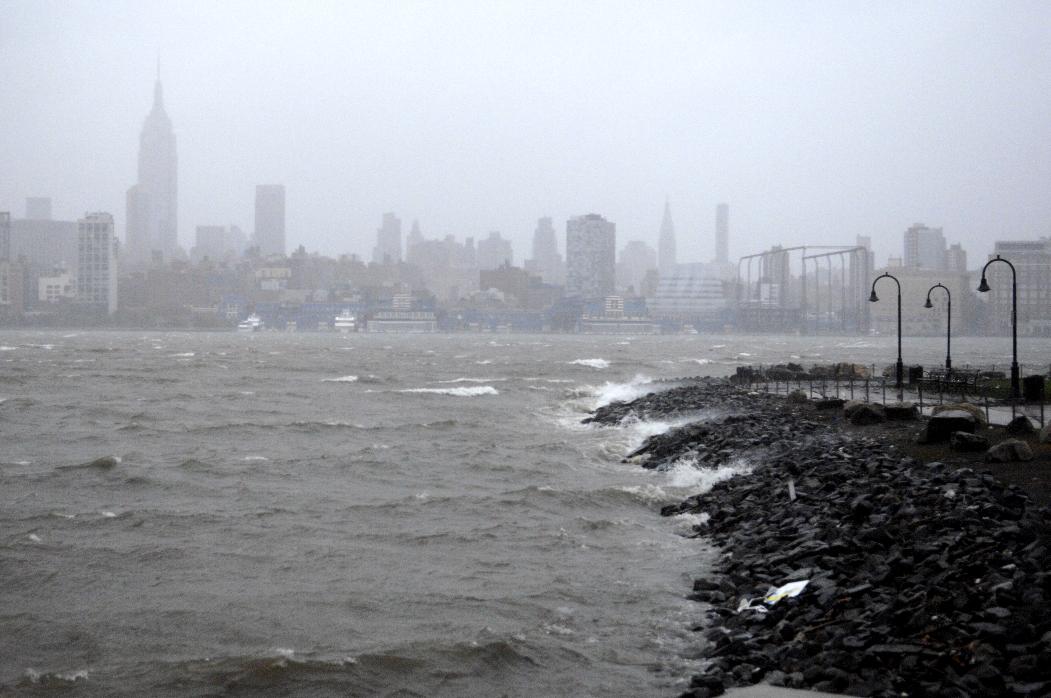 New York on the eve of Hurricane Sandy.
