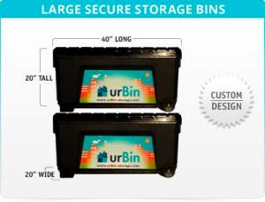 Mr. Ernst said you can easily store a set of golf clubs in urBin's storage bins. (urBin)