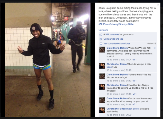 One MTA employee didn't get the message. (Photo: Facebook)