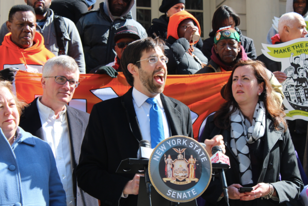 Daniel Squadron announces his fair wage bill
