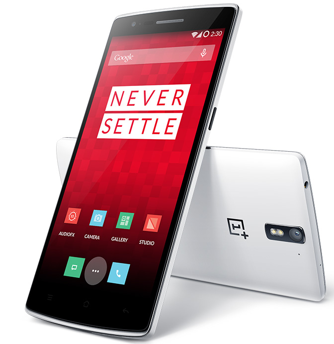 Never Settle... for a phone that just feels like a phone. (Screengrab via oneplus.net)