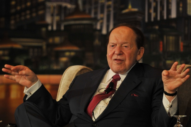 Sheldon Adelson. (Photo via Getty Images)