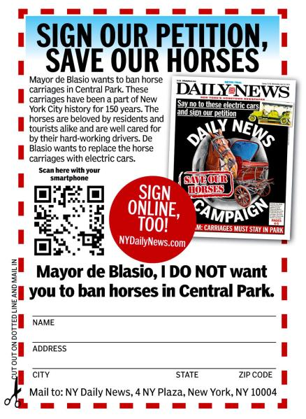 The Daily News's petition