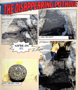An entry from the Daily Pothole tthedailypothole.tumblr.com)