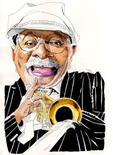 Clark Terry. (Illustration by Paul Kisselev)