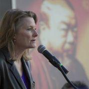 Jennifer Egan at the Ai Weiwei rally.