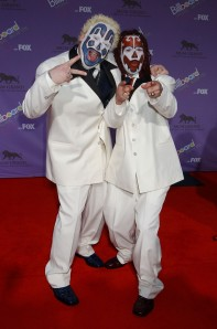 Insane Clown Posse, the musical deities of the Juggalo. Getty Images