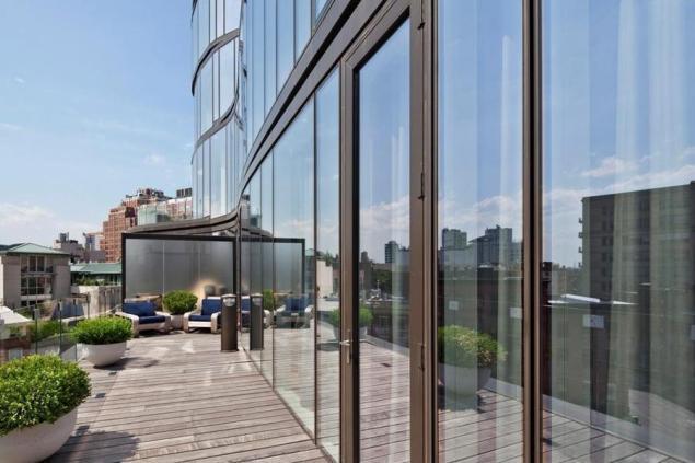 Glassy terrace.