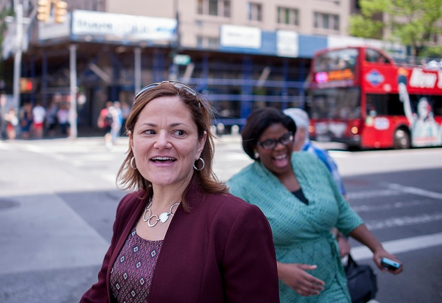 Council Speaker Melissa Mark-Viverito with her senior adviser, Amelia Adams, a former organizer with New York Communities for Change. (Photo: NYC Council/William Alatriste)