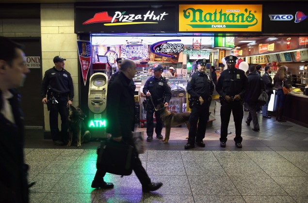 Fast food standards like Pizza Hut and Taco Bell won't be around in Penn Station much longer. (John Moore/Getty Images)
