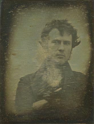 The first selfie ever, by Robert Cornelius, daguerreotype, 1839  (Library of Congress.