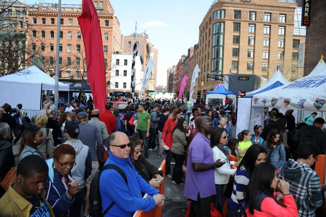 The Family Festival Street Fair in Tribeca, April 26, 2014. (Getty Images)