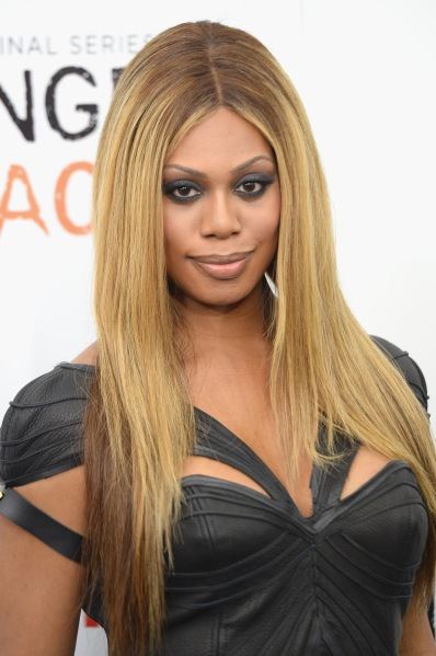 Laverne Cox at the premiere of Orange is the New Black.