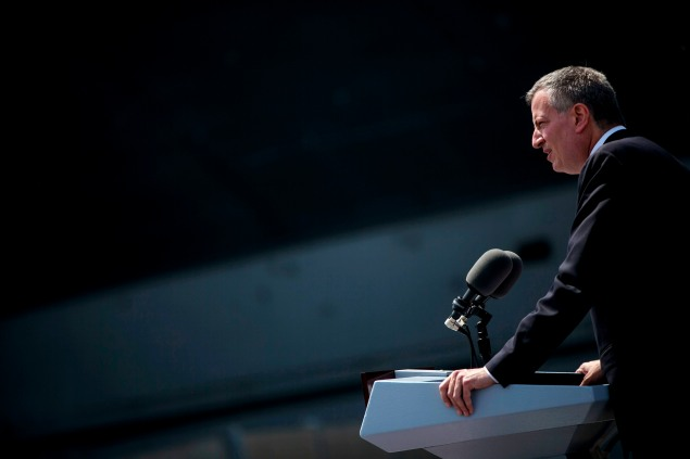 Mayor Bill de Blasio today. (Photo: Eric Thayer/Getty Images)