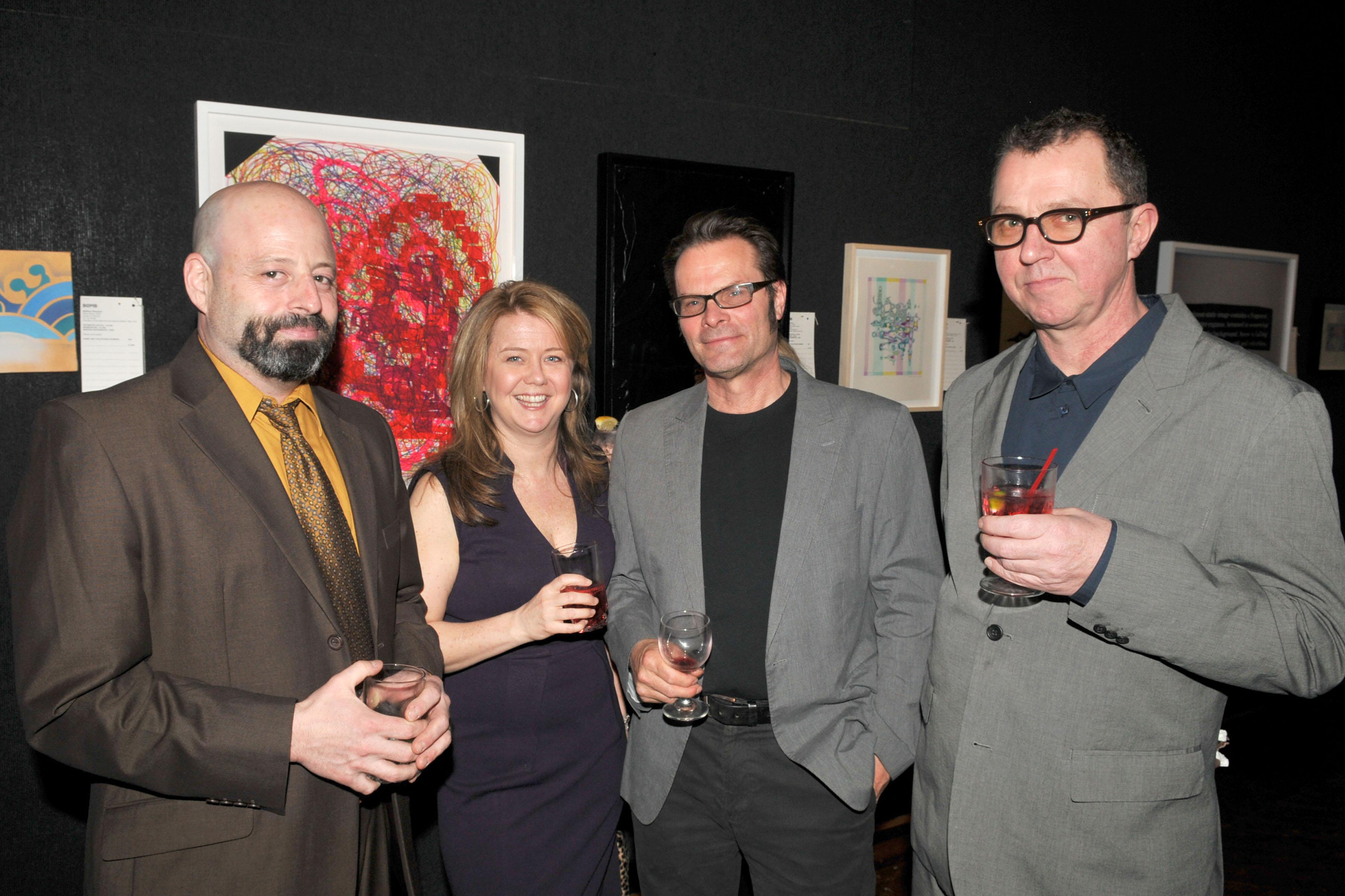 Joe Amrhein (center right) (Patrick McMullan)
