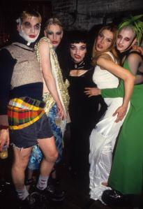Michael Alig (far left) in 1994. (Getty images)