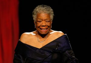 Ms. Angelou speaks in New York City in 2009 (Jemal Countess/ Getty)