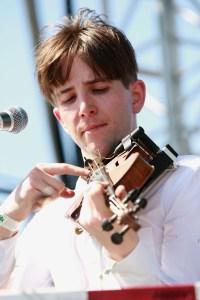Owen Pallett plucking at Coachella, April 2010. (Getty Images)