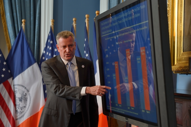 Mayor Bill de Blasio presenting his executive budget. (Photo: Rob Bennett/NYC Mayor's Office)