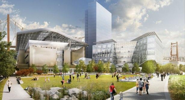Cornel's future tech campus on Roosevelt  Island. (Photo via Cornel Tech)