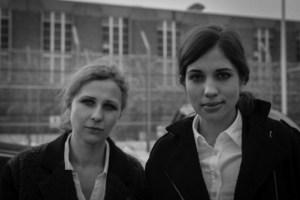 """Maria """"Masha"""" Tolokonnikova and Nadezhda """"Nadya"""" Alyokhina. (Courtesy Frieze New York)"""