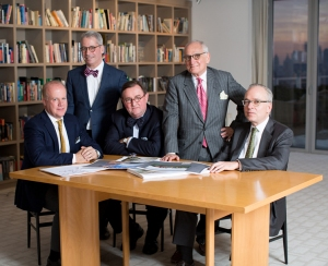 The House Partners— from left to right: Gary Brewer, Roger Seifter, Grant Marani, Robert A.M. Stern, Randy Correll.